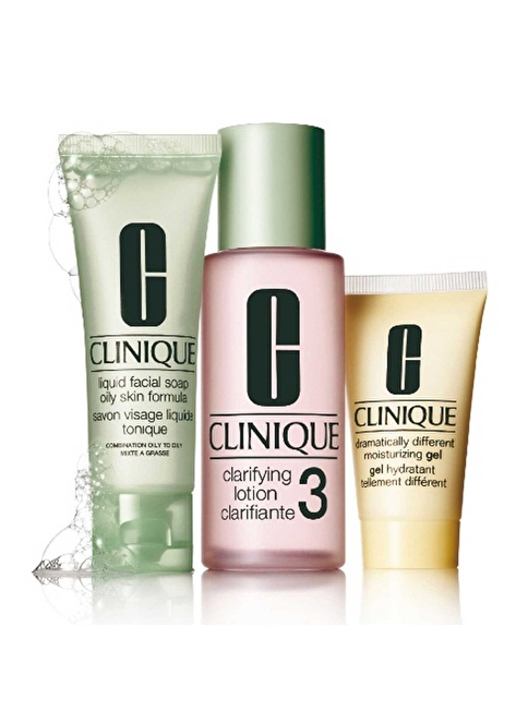 Clinique 3-Step Skin Type 3 intro Renksiz